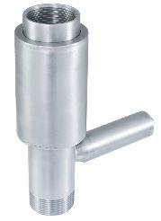 Zpětný ventil s integrovaným pojistným ventilem celonerezový